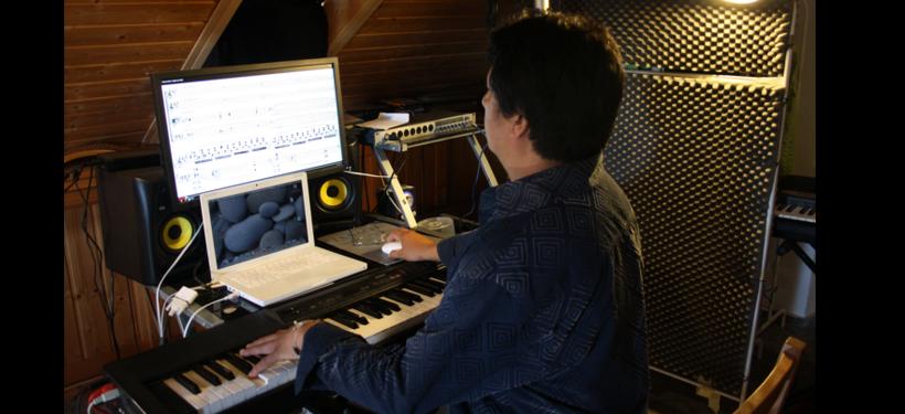 Chino Augusto in seinem eigenem Tonstudio